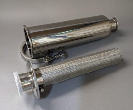 """Triclamp 1.5"""" - Inline trub filter"""