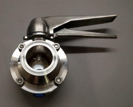 "1.5"" Triclamp squeeze trigger butterfly valve"