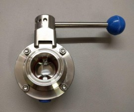 "1.5"" Triclamp pull trigger butterfly valve"